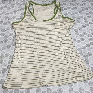 Maurices XL Green Tank Top Striped